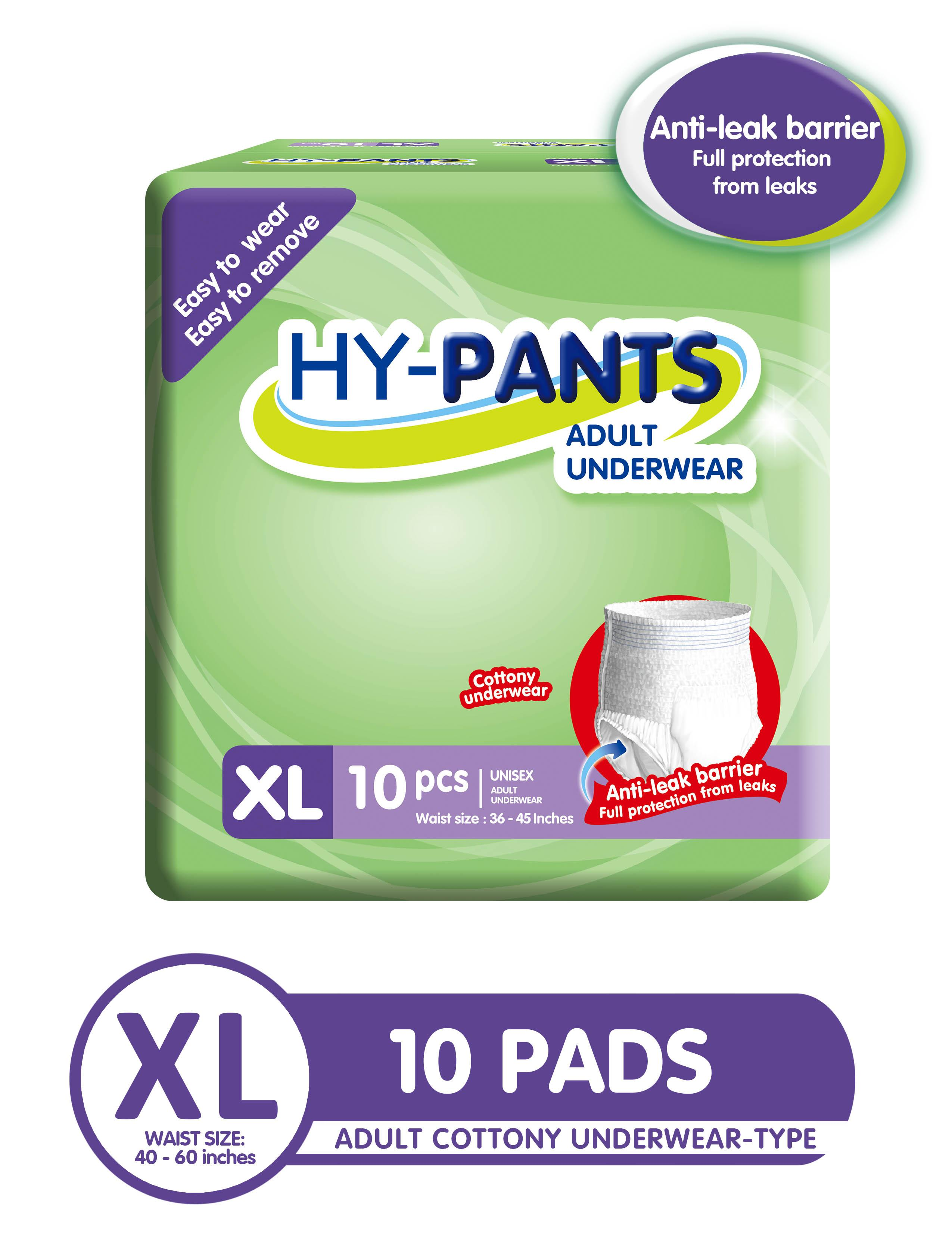 Hy-pants Adult Underwear Extra Large - 1 Pack of 10 Pads