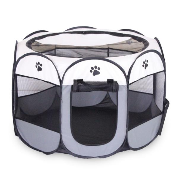 Cũi chơi thú cưng di động cho chó mèo PVC Lưới che bóng che Có thể gập lại có thể tháo rời Du lịch chống thấm nước Sử dụng cắm trại Bút tập thể dục Cũi nhà sân chơi Hộp đựng trong nhà Sử dụng ngoài trời