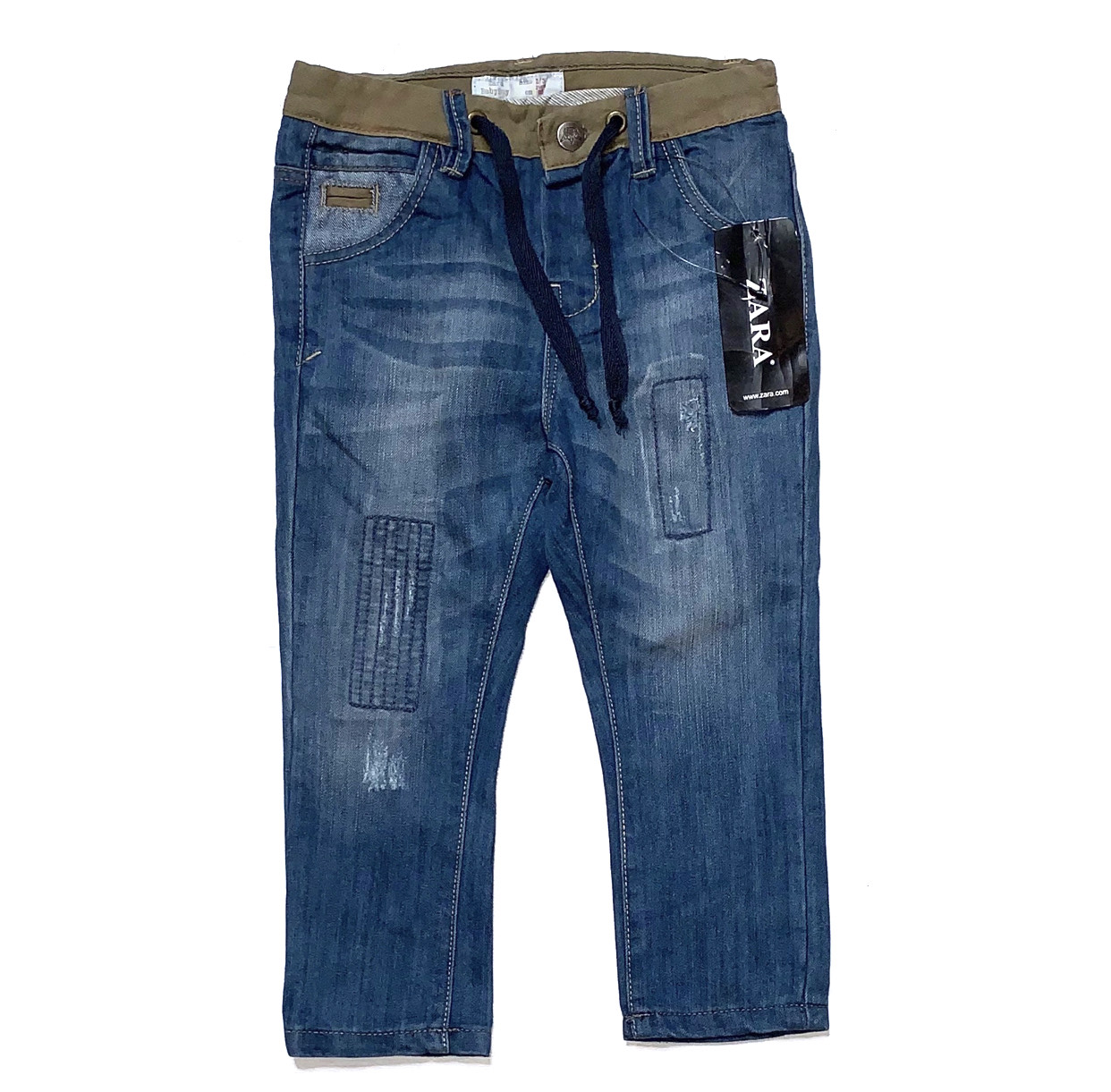 Boys Straight Leg Blue Denim Jeans Plus Fit /& Regular Casual Kids