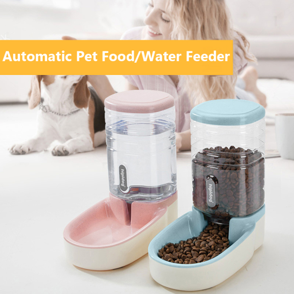 WAGTEST New Drinking Bowl Puppy Automatic Food Water Dispenser Dog Cat Pet Feeder Bottle