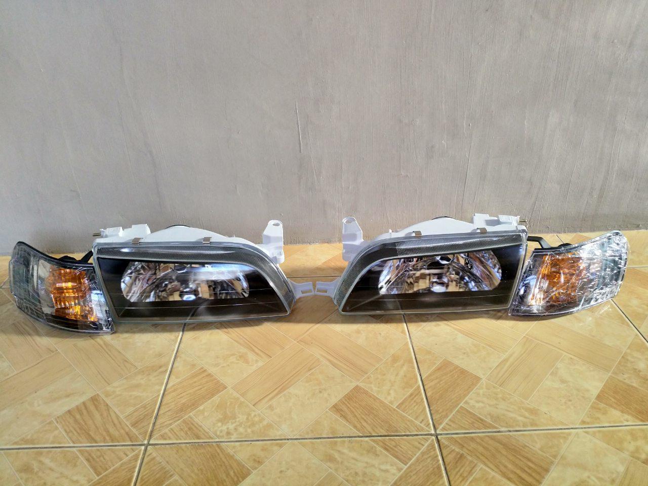 Toyota Ae101 Smoke Big Body Glass Head Light & Clearance Light Set By Chrisotopyeza.