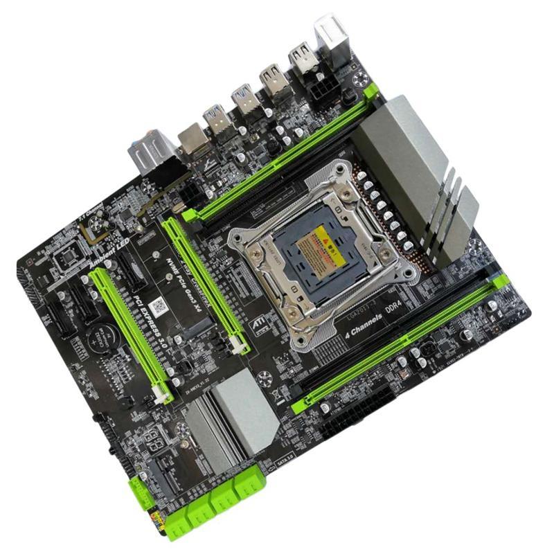 X99 LGA2011-3 Motherboard for Intel I7 E5 4-Channel DDR4 2133/2400/2800 32G  RAM,NVME SSD M 2,SATA2 0,USB3 0,PCIE16X Slots