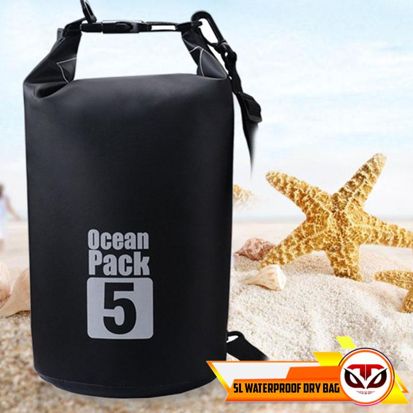 D&D 5L Ocean Pack Waterproof Storage Dry Bag Pouch for Boating Hiking surfing image on snachetto.com