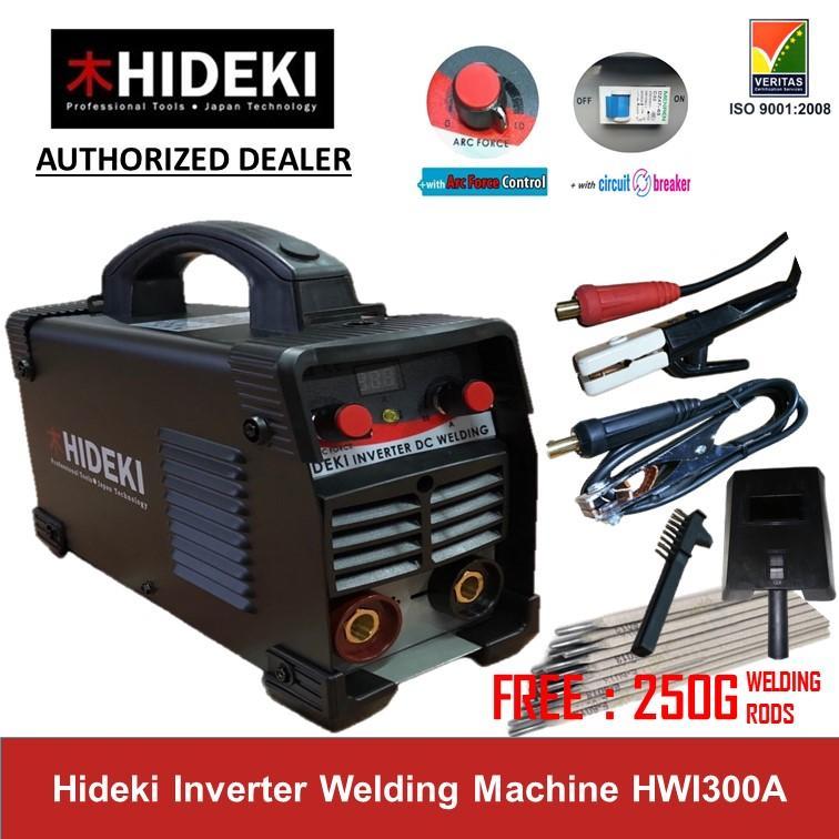 Hideki Digital Inverter Welding Machine 300A with circuit breaker switch  and 250 grams welding rods