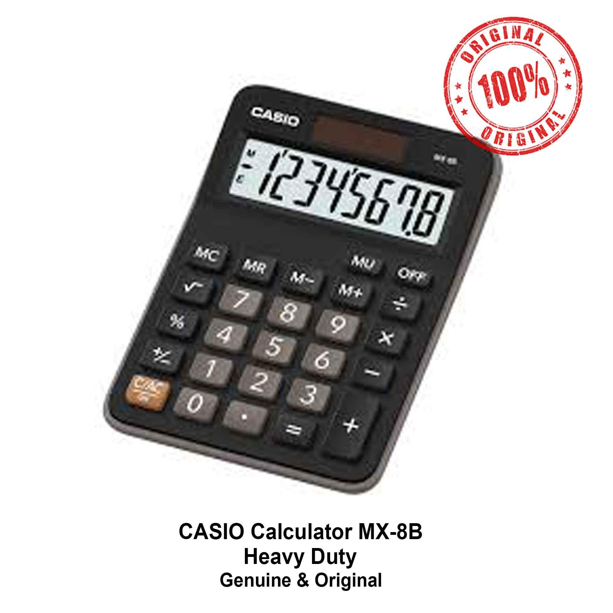 Casio Calculator MX-8B Calculators Heavy Duty MX8B - 1 Unit - Genuine and  Original