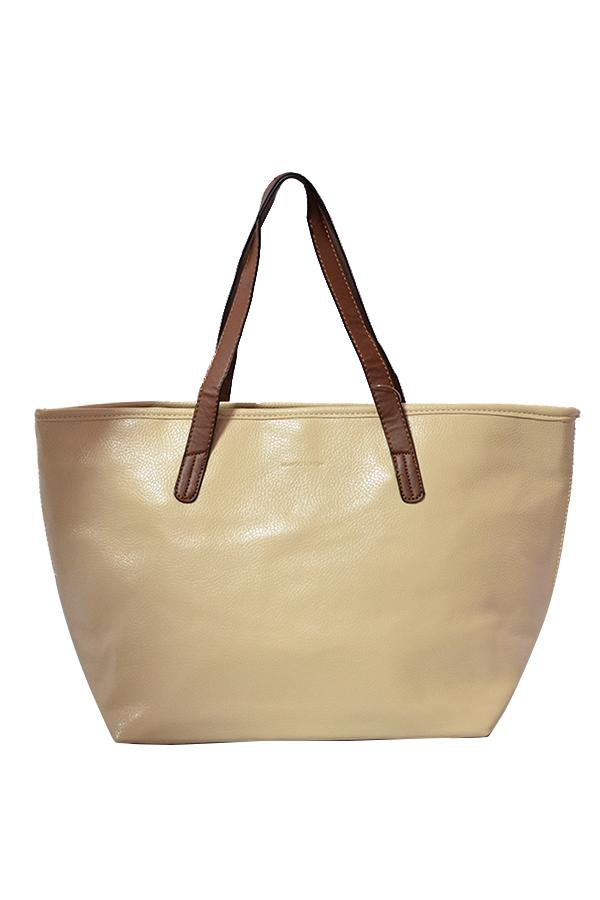 Mango Shopper Bag Beige
