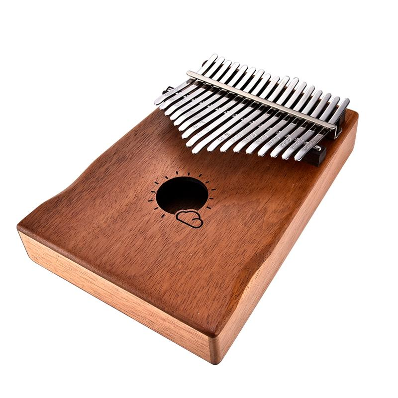 Thumb Piano 17 keys Kalimba African Mahogany Mbira Portable Easy-to-learn with Music Book Tune Hammer and Bag