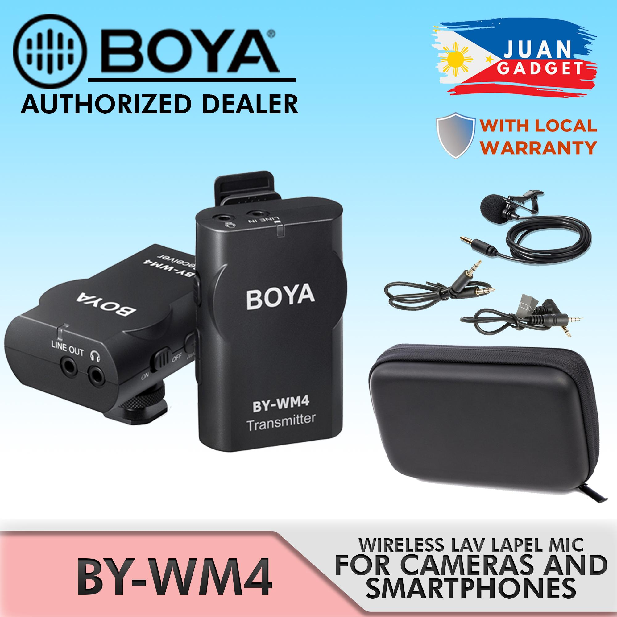 Boya BY-WM4 Wireless Lavalier Microphone system for IOS Smartphone Tablet DSLR Camera Audio Recorder