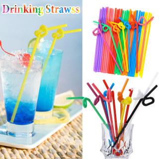 HWSJ Ống Hút Nhựa Trang Trí Tiệc Cưới Dùng Một Lần Uốn Cong Dụng Cụ Quán Bar, Nguồn Cung Cấp Nhà Bếp Uống Ống Hút thumbnail