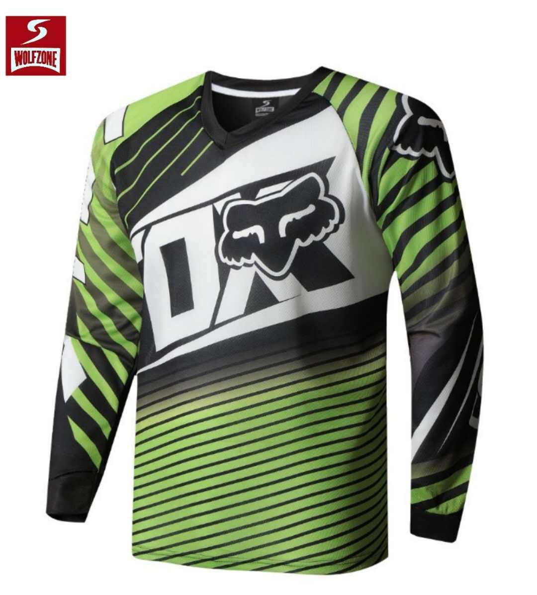 a2a2e0a57 Wolf Zone Spandex Fox Longsleeve Men s Sportswear Quick DryFortress Cycling  Mountain Bike Motocross Motorcycle MTB