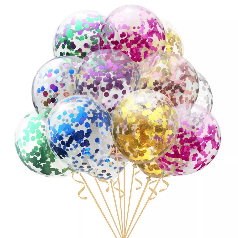 5pcs Confetti Balloon Size 12