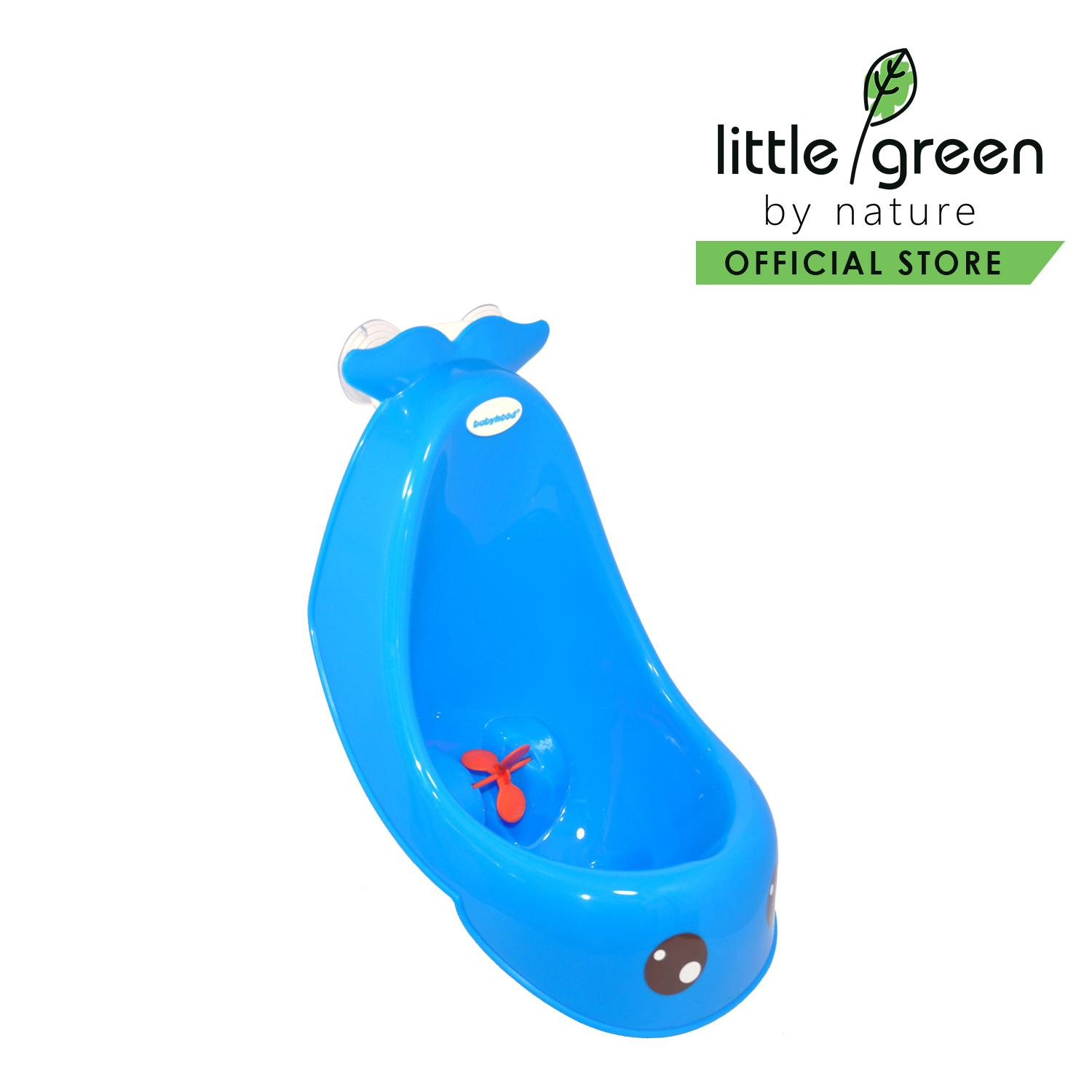 Babyhood Whale Stand Urinal (blue) By Little Green By Nature.