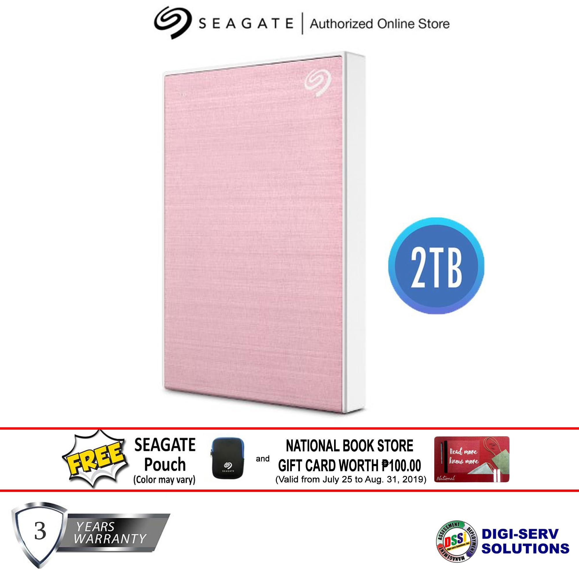 Seagate Backup Plus (New) 2TB (RoseGold) Slim Portable Drive with  High-Speed USB 3 0 & 2 0 Connectivity, Plug-and-play with Mac & PC, 3 Years  Warranty