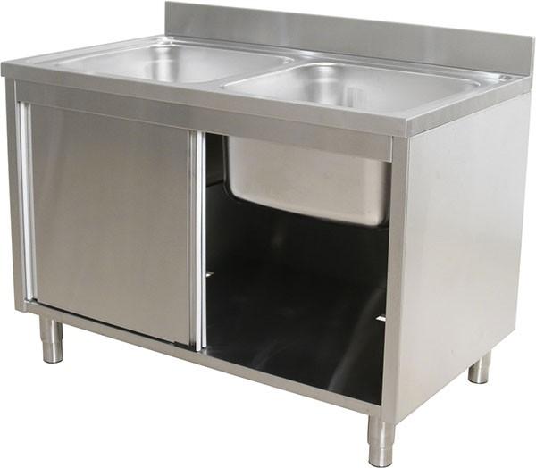 L120 X W60 X H80cm Stainless Steel Single Sink Witn Cabinet 2 Doors Lazada Ph
