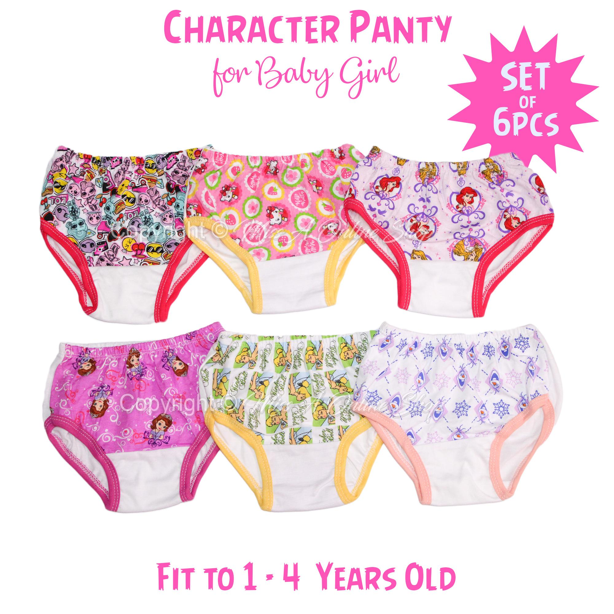 Character Panty For Kids 1-4 Years Old (6 Pieces) By Miss A Online Shop.