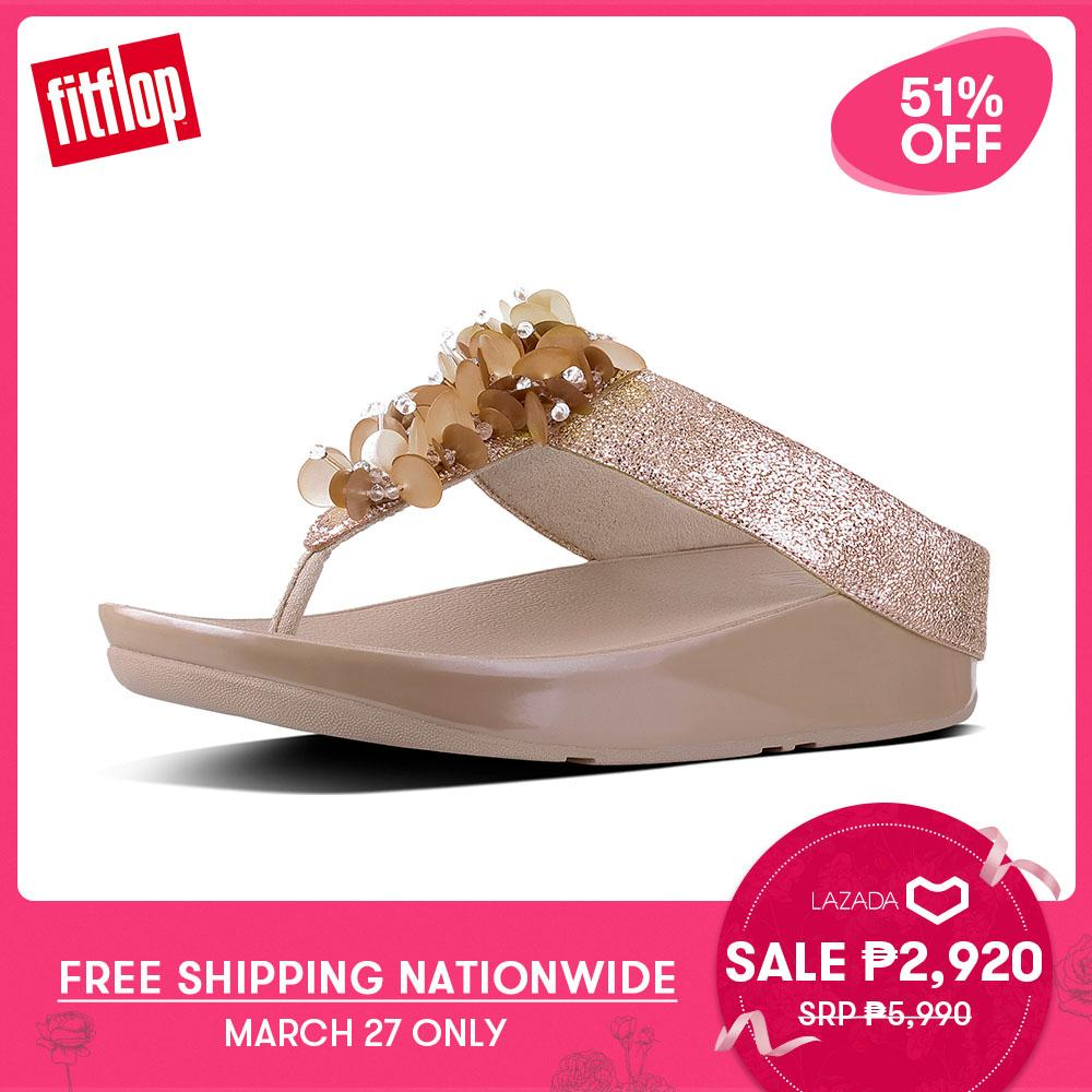 8f5982b4f70d FitFlop Women s Sandals I35 BOOGALOO TOE POST Leather DRESS lightweight  comfort fashion New