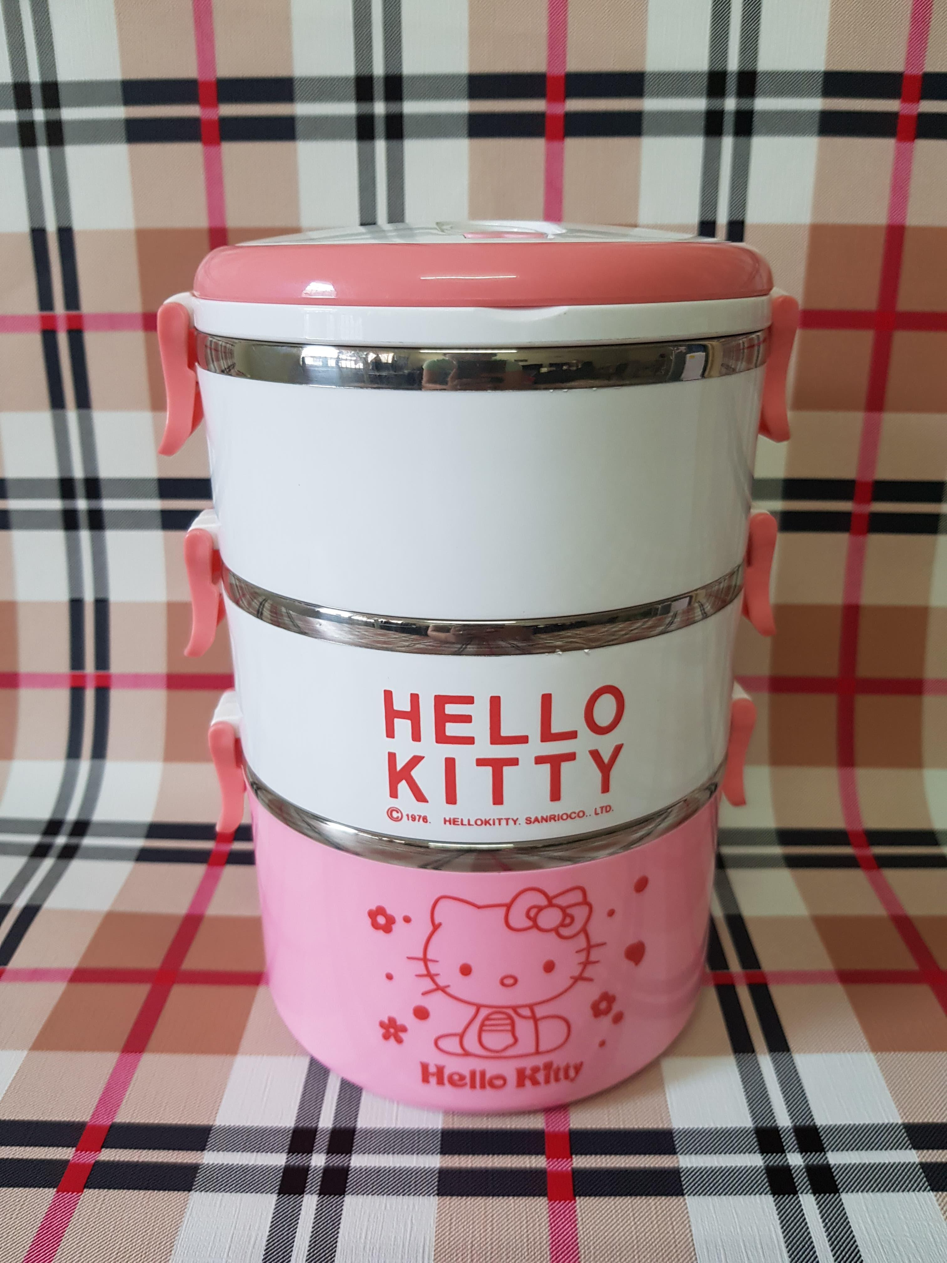 17a3fafb7 Factory Price Direct Hello Kitty Cartoon Seal Multi-layer Insulation Lunch  Box Round One Or