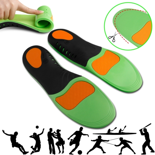 Orthotic Shoe Insoles Inserts Flat Feet High Arch Support for Plantar Fasciitis giá rẻ