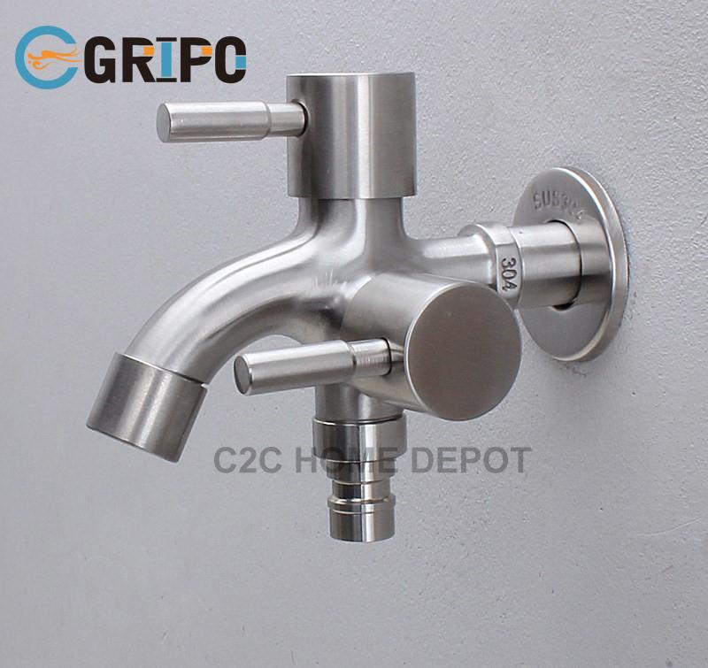 Gripo Sus304 Stainless 2 Way Two Way Faucet By C2c Home Depot.