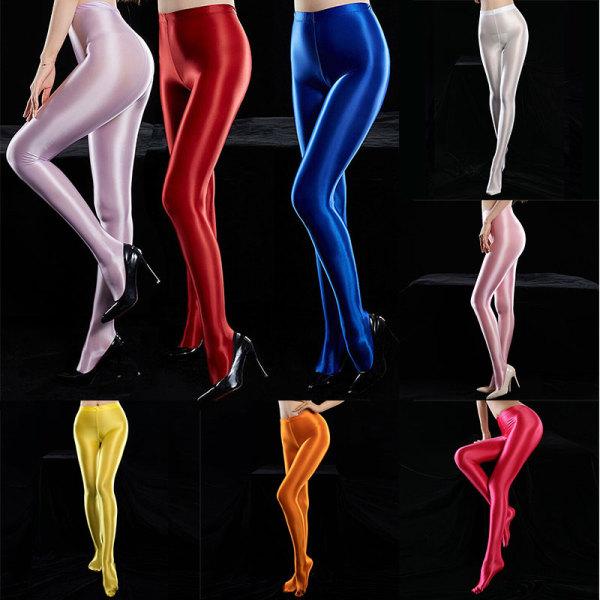 Giá bán Phụ nữ Đục màu trắng đục Vớ nylon sáng bóng Quần tất thể thao Thể dục Satin bóng Đồ khiêu vũ
