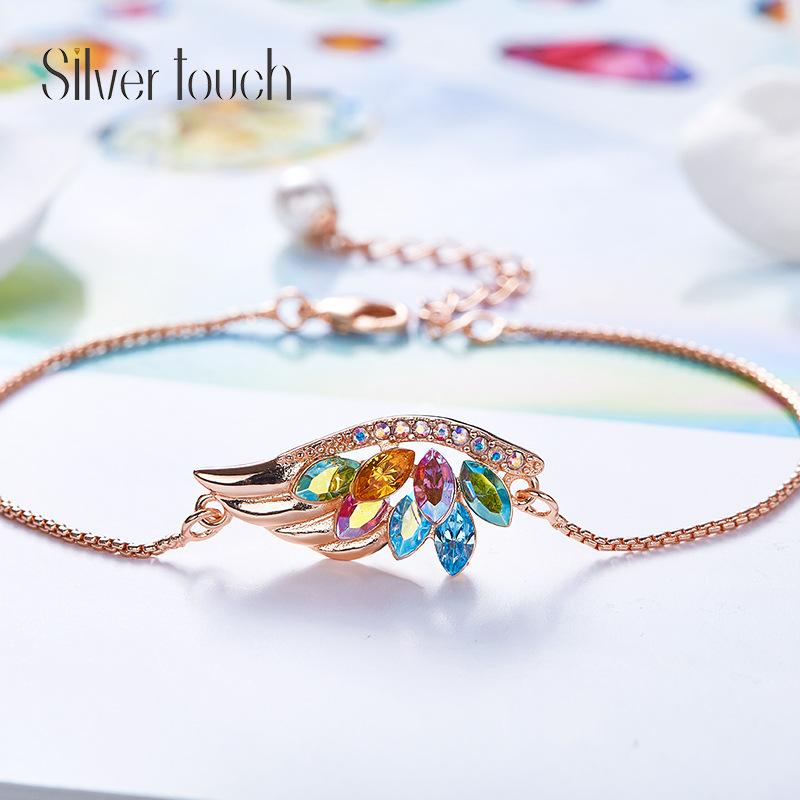 65d87f033 CDE 【Free Shipping Fee】Swarovski Crystal Diamond Angel Wing Bracelet Pearl  Pearl Embellishment Jewelry