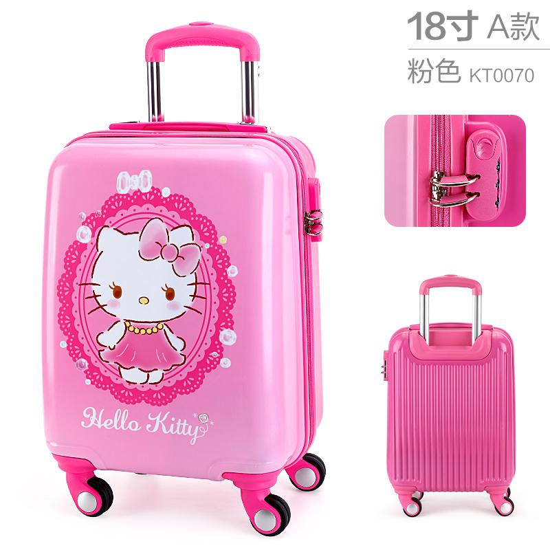1b523079eab Hello kitty Children s Trolley Case Girls Natural 20-Inch Travel Lugguge  girl women Trolley bag
