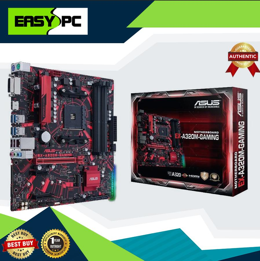 Asus EX-A320M Gaming Motherboard Socket Am4 Ddr4, BIOS Updated for 2nd Gen  AMD Ryzen and Athlon, Asus EX A320 M Expedition Water cooling ready