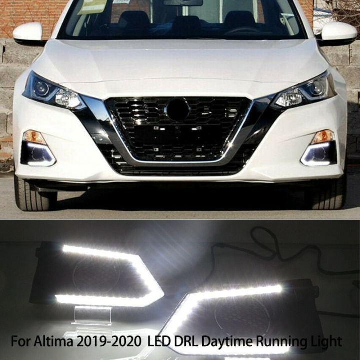 For Nissan Altima 2019  DRL LED Daytime Running Fog Light Turn Signal Lamp