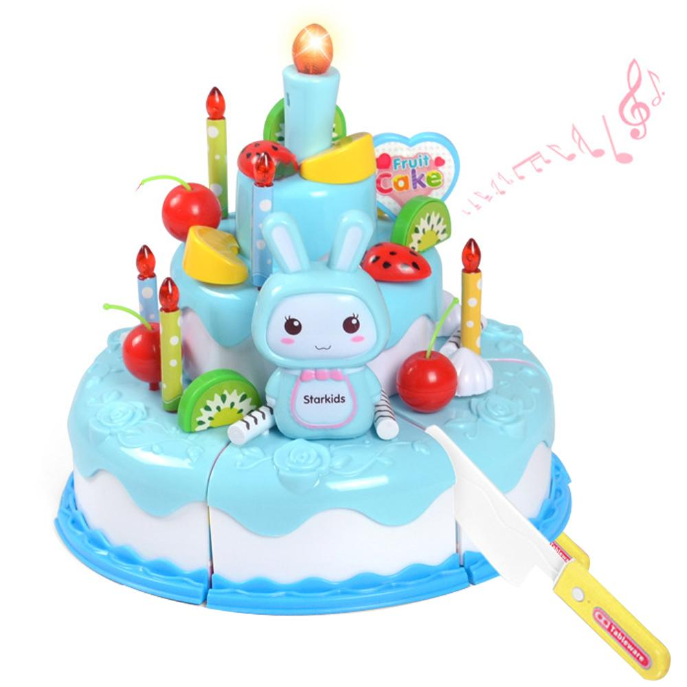 Dummy Cake Toy ChildrenS Music Beatuiful Funny Birthday Song Light Candle Christmas