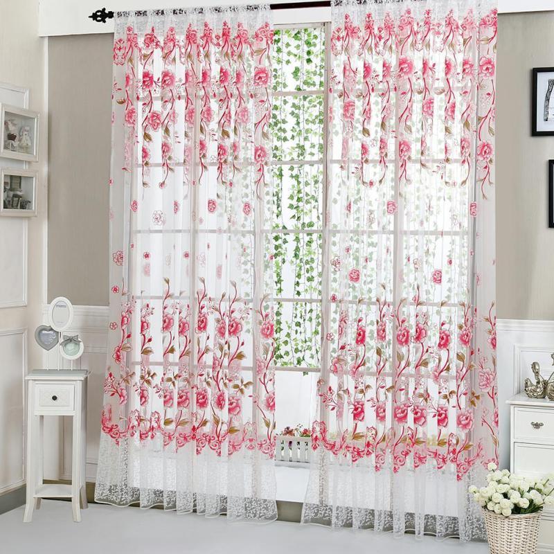 Rèm Cửa Hoa Mẫu Đơn Phòng Khách Phòng Ngủ Gia Đình Rèm Cửa Sổ