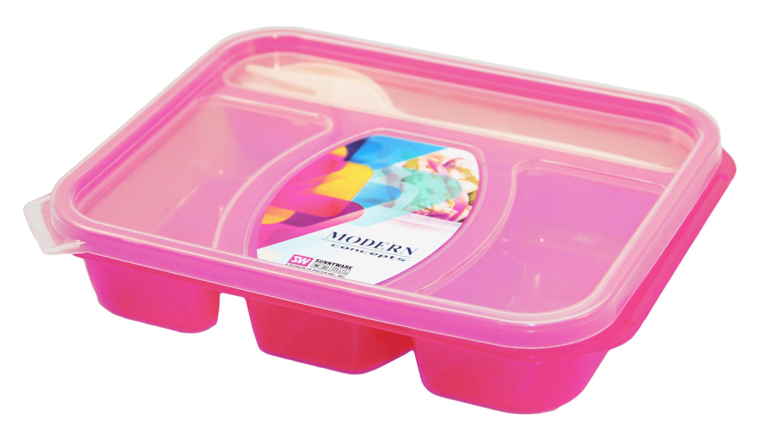85326709c2f2 1pc Sunnyware 508 Bento Box /Lunch Box w/ Reusable Spoon & Fork