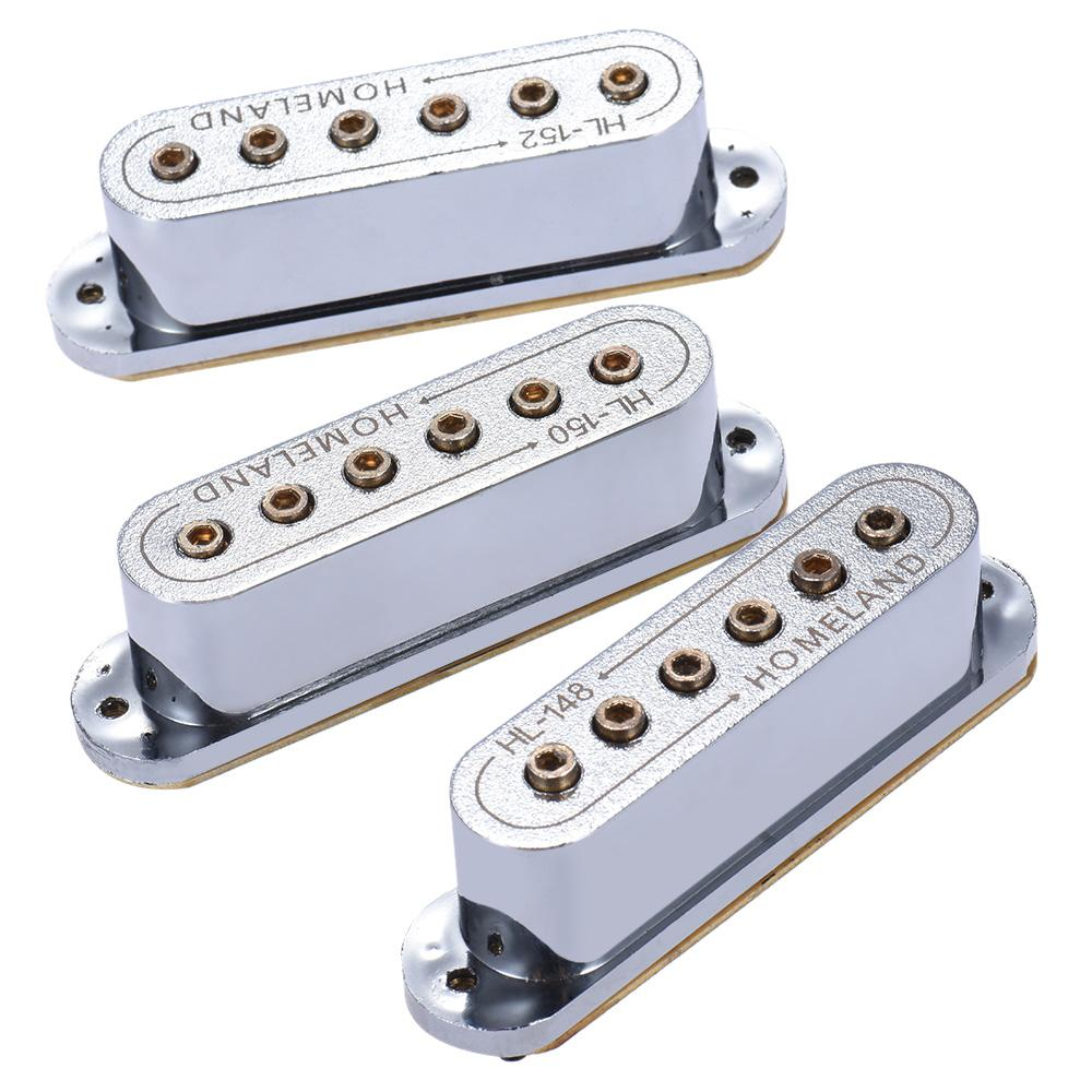 3pcs 48/50/52mm Passive Magnetic Dual-Coil Sound Hole Pickup for ST Style Electric Guitar