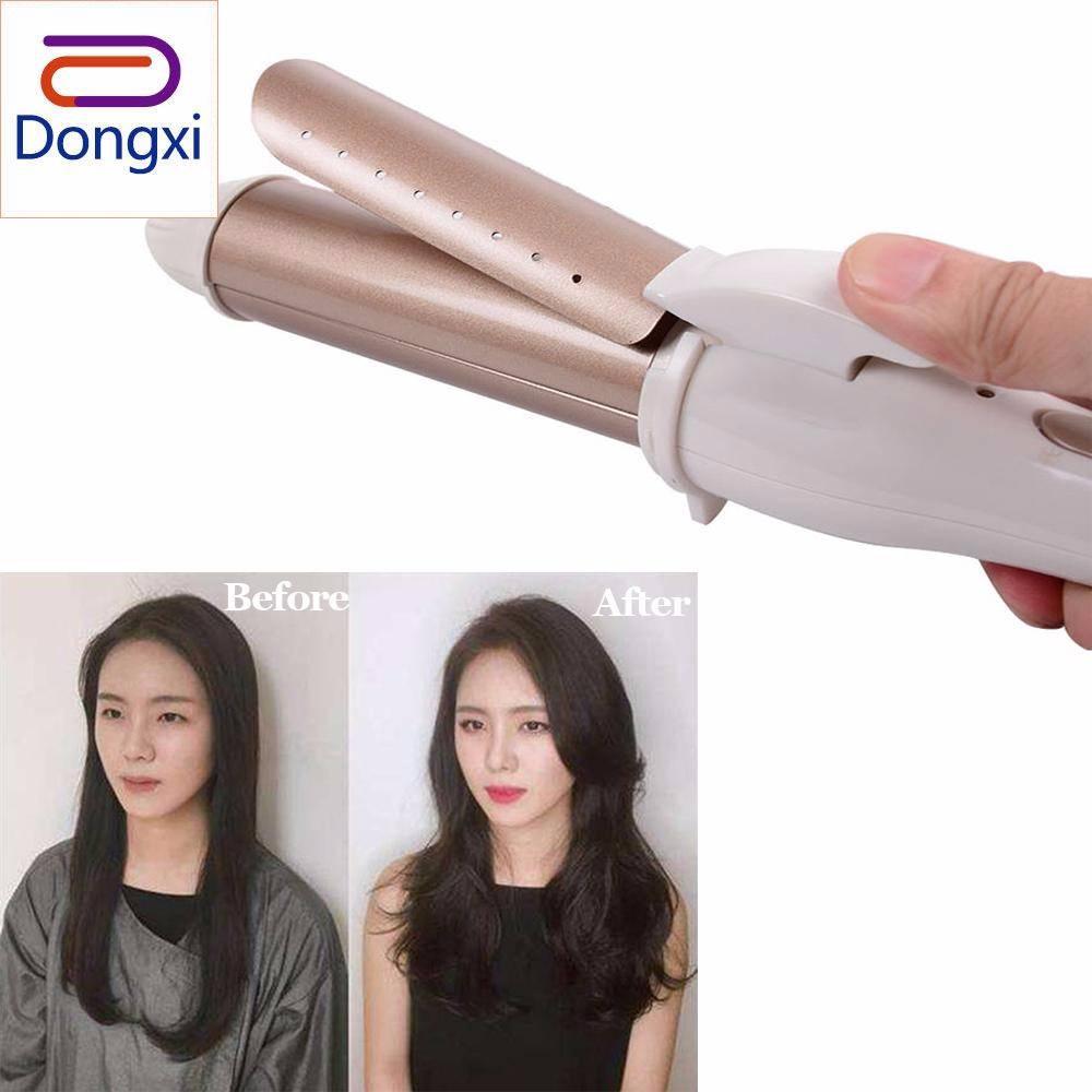Dongxi 1 PC Portable Roll Lurus Penggunaan Ganda Listrik Belat Alat Pengeriting Rambut Rambut Pelurus Rambut