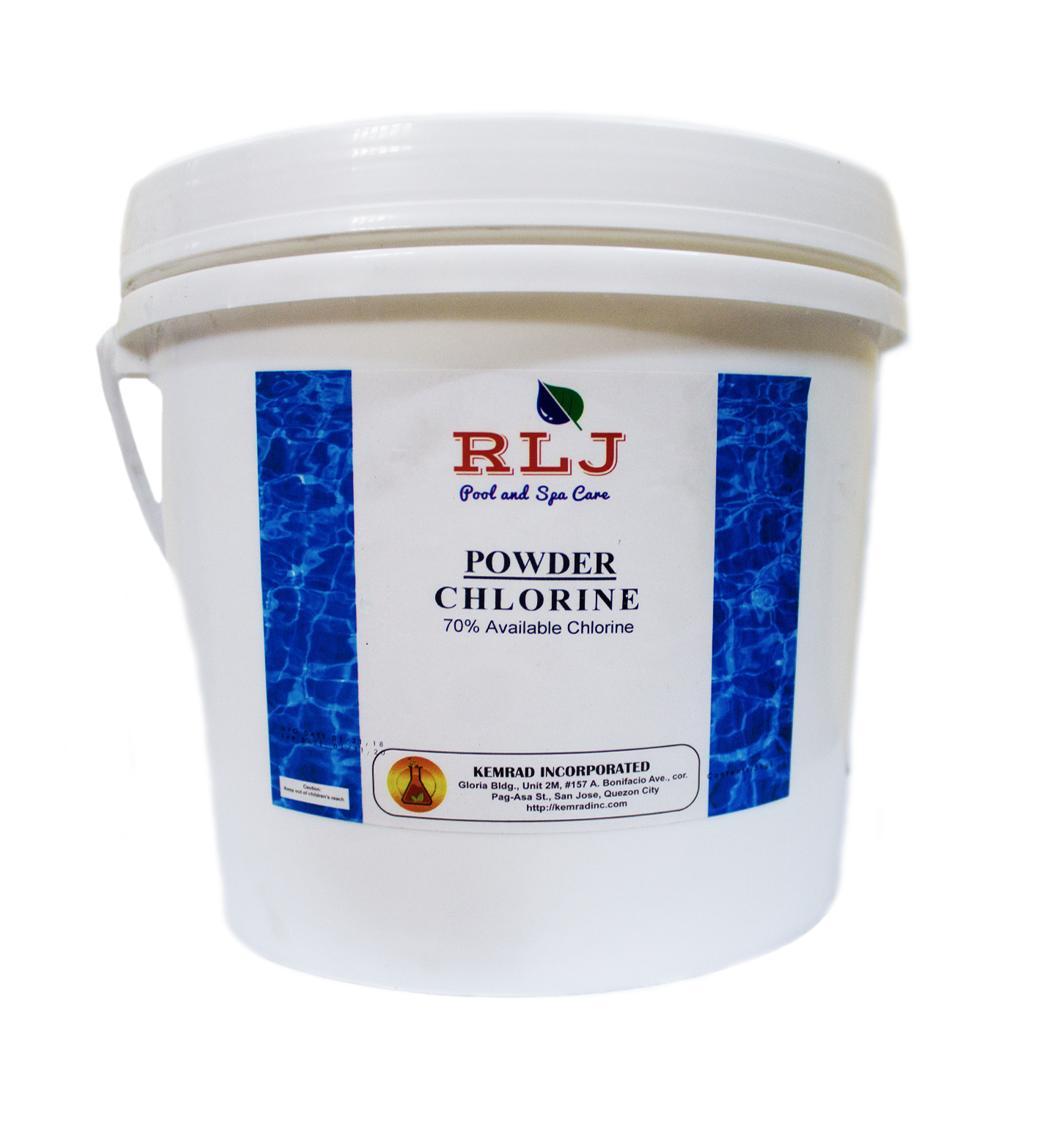 Rlj Powder Chlorine 70% 5 Kilos By Kemrad Incorporated.