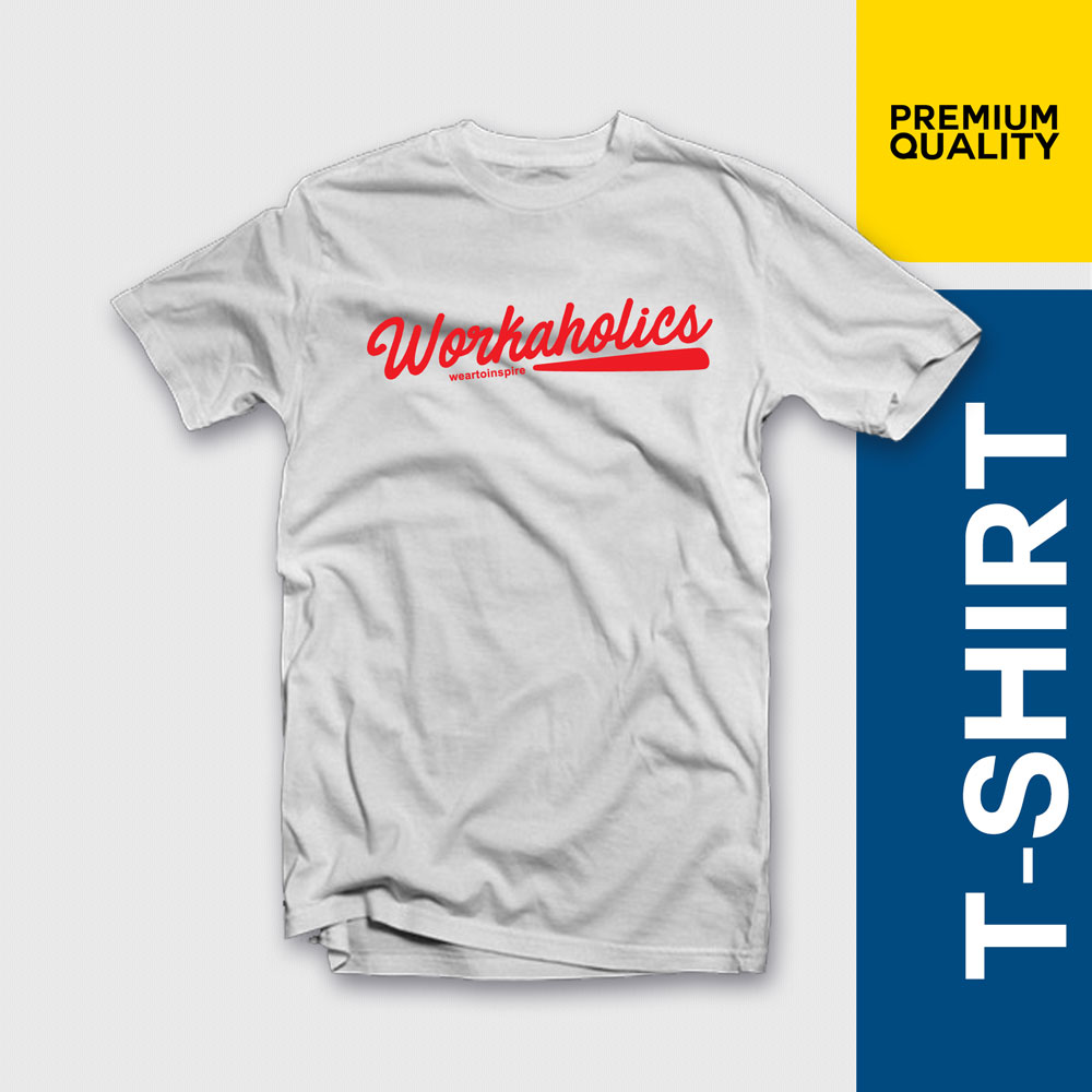 WORKAHOLICS Drink More Logo T-Shirt S-2XL NEW