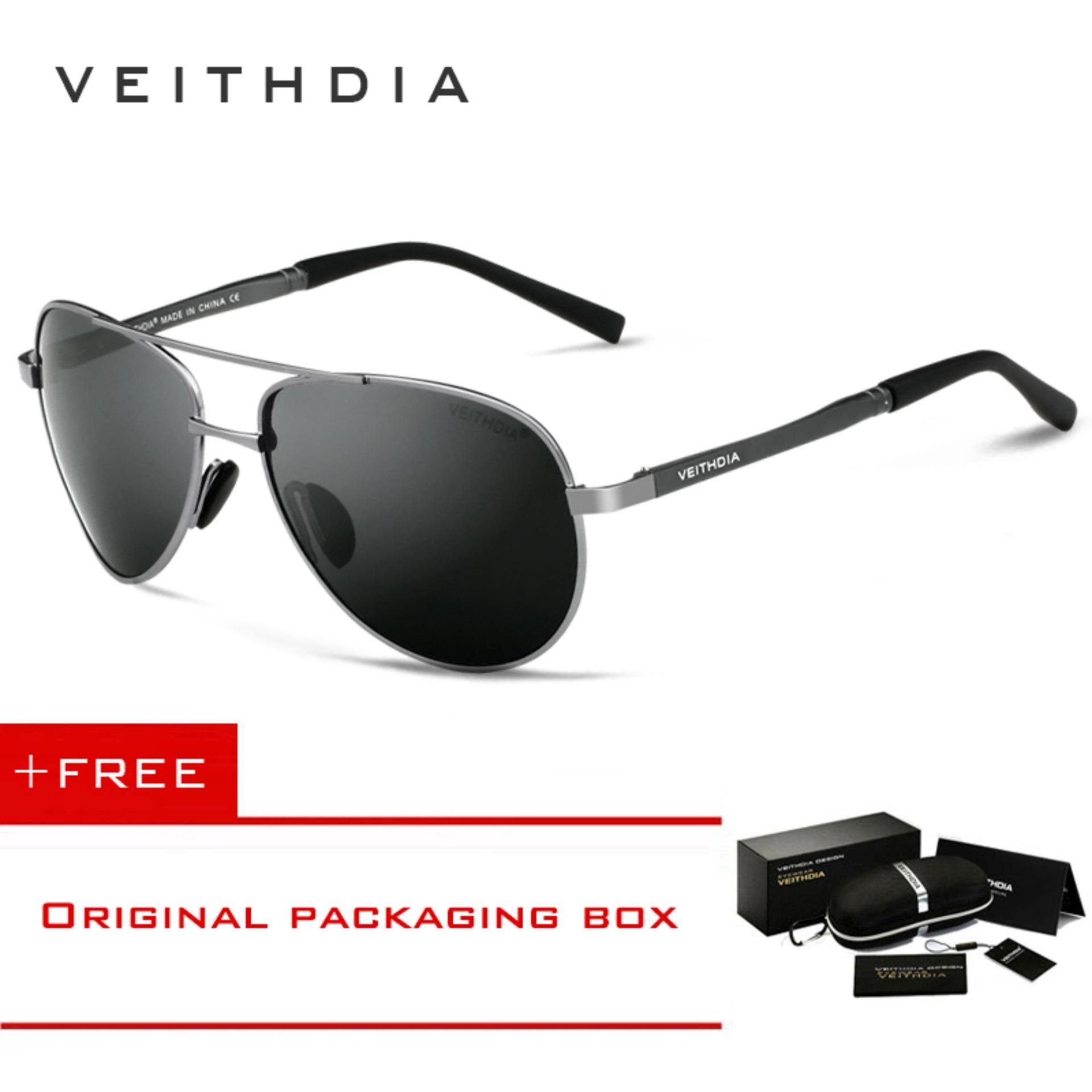 cf7e8063fe2 VEITHDIA Men s Sunglasses Brand Designer Pilot Polarized Male Sun Glasses  Eyeglasses For Men 1306