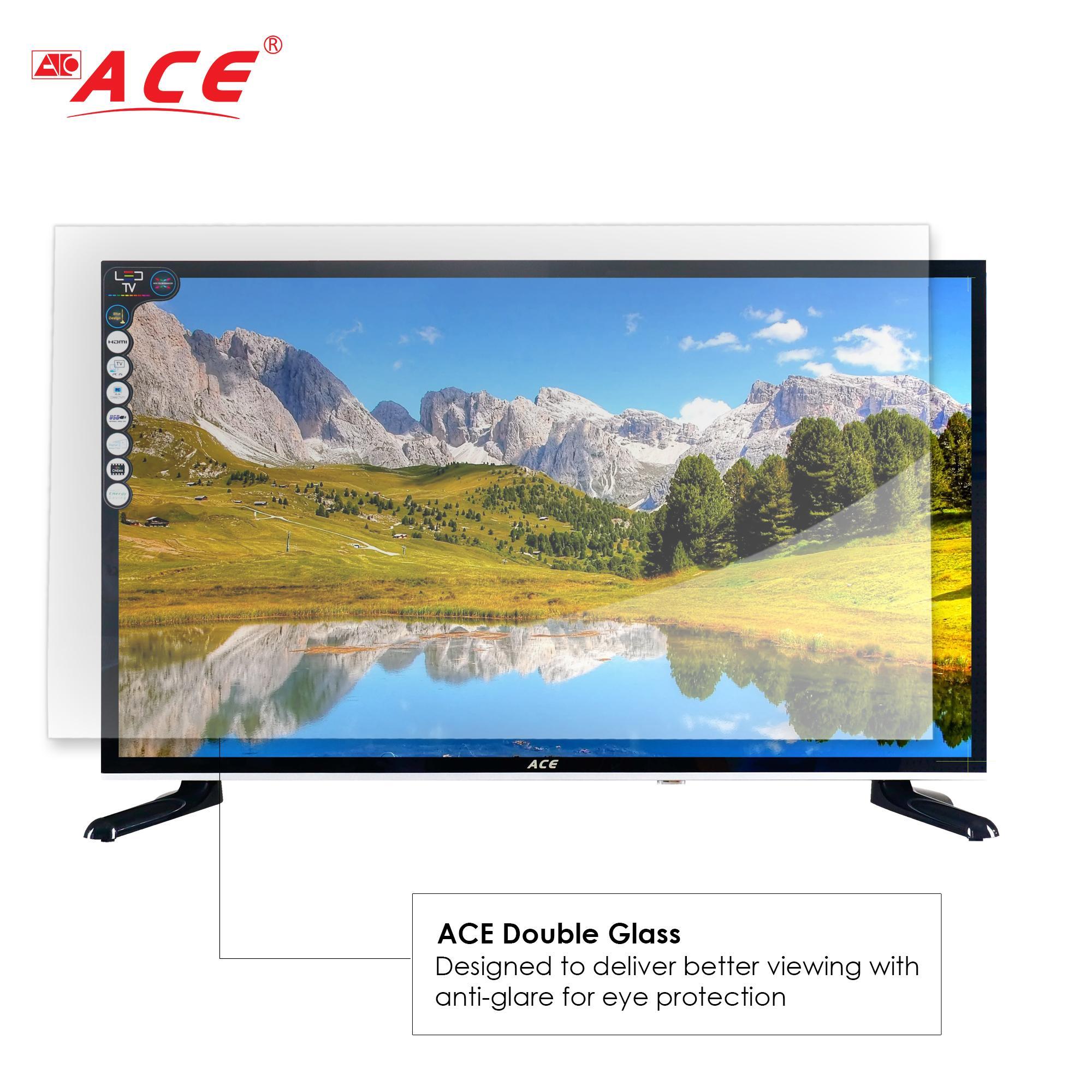 Ace 32 Glass Slim HD Smart LED TV Black LED-808 DN2