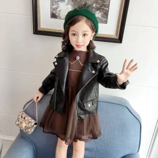 Bé Gái Áo Da Áo Khoác Áo Thu Đông Mẫu Mới 2020 Phiên Bản Hàn Quốc Trẻ Em Ngắn Áo Bé Gái Áo Jacket Da Pu, Da Nhựa Dẻo Áo Khoác thumbnail