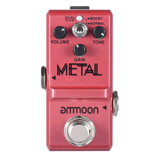 okoogee ammoon Nano Series Guitar Effect Pedal Heavy Metal Distortion True Bypass Aluminum Alloy Body