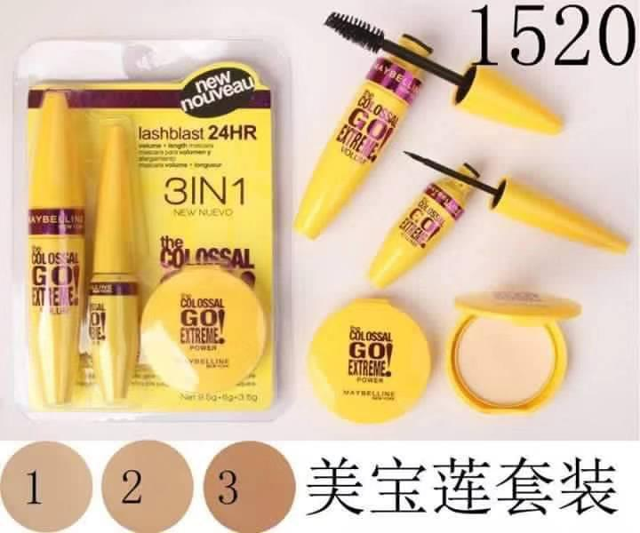 3in1 Mascara eyeliner and powder set Philippines