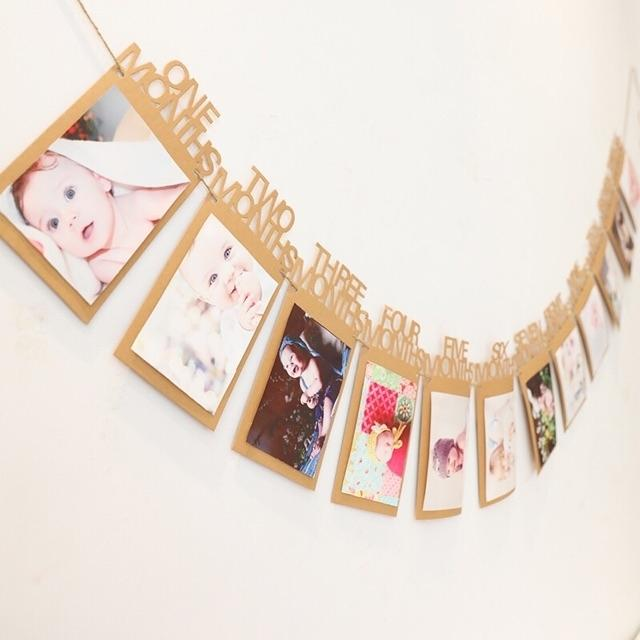 1st Birthday Baby Photo Banner (1month-12months) By Ariana Shop.