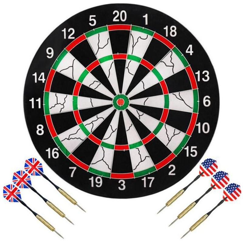 [ready Stock] 18 Inch Professional Dart Board Double-Sided Flocking Dartboard Game With 6pcs Darts For Bar Office Home Club By Xy-Store.