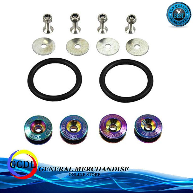 Jdm Password Bumper Fastener(neochrome) By Gcdl General Merchandise.