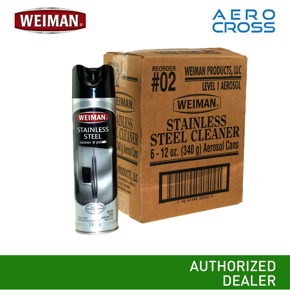 Ac Weiman Stainless Steel Cleaner And Polish 1 Box (6 Pcs.) By Aerocross Phils..