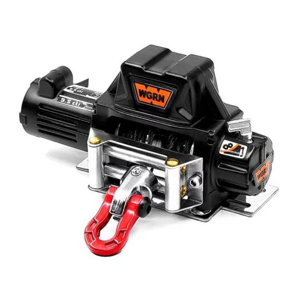 Metal Winch for 1:10 RC Crawler Car Axial SCX10 D90 90046 TRX4 Redcat (Black)