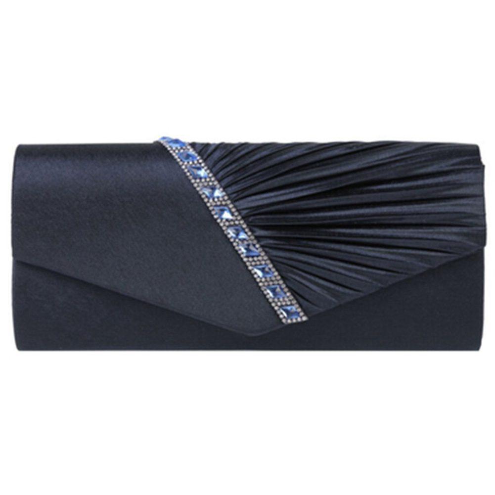 b192be9a3c Ladies Diamond Ruffle Party Prom Bridal Evening Envelope Clutch Bag
