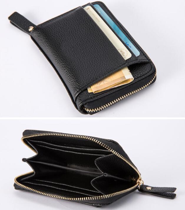 Leather Wallet Man Wallet Short Wallet Slim Wallet Minimalism Wallet Card  Holder Coin Purse