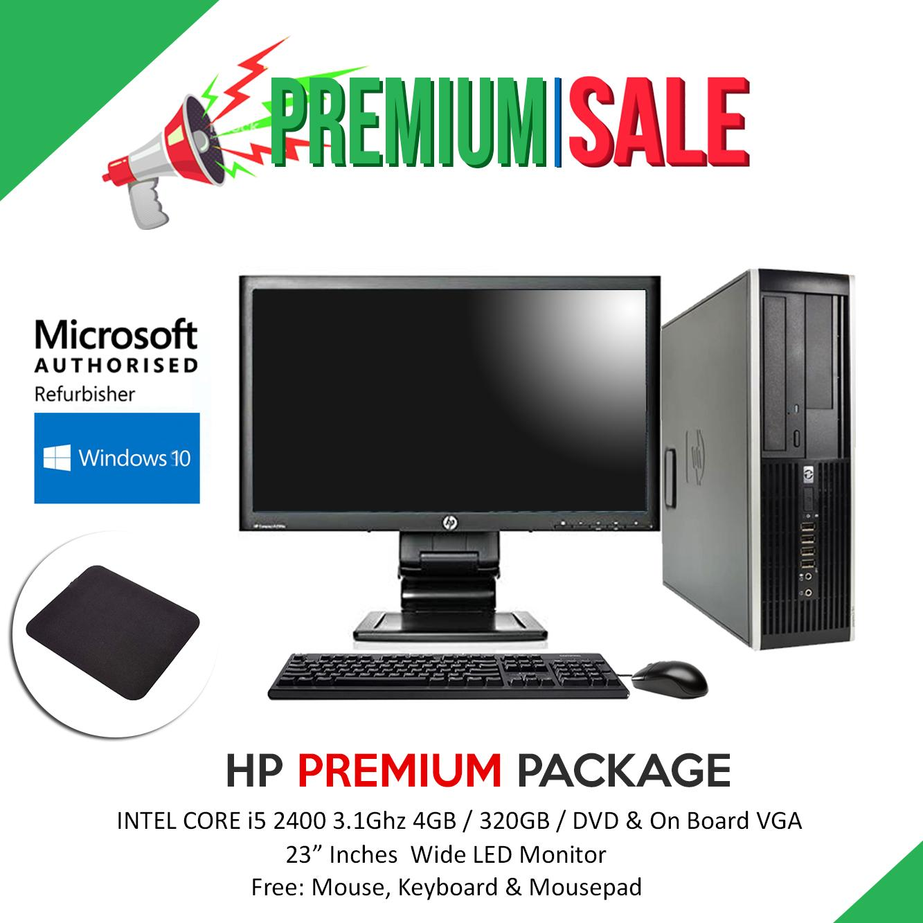 [Package] intel i5 CPU & 23inch led monitor With ACC (Ready to use) //  desktop computer, desktop case, desktop pc, windows