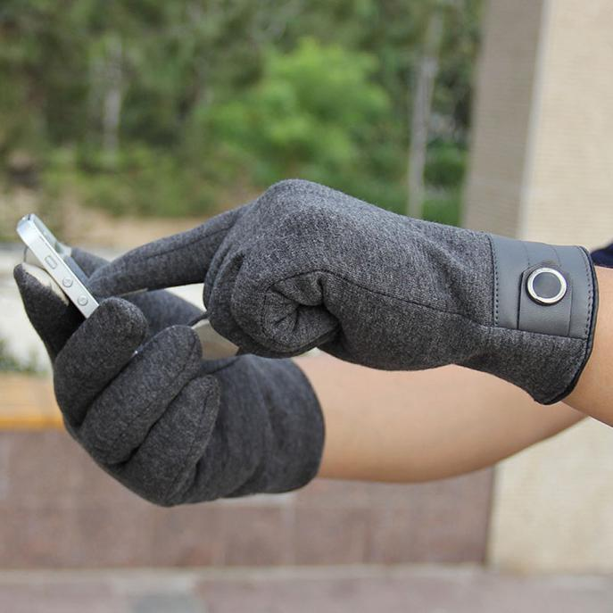 (Audestore)_Fashion Men Touch Screen Winter Outdoor Sport Warm Gloves Free shipping