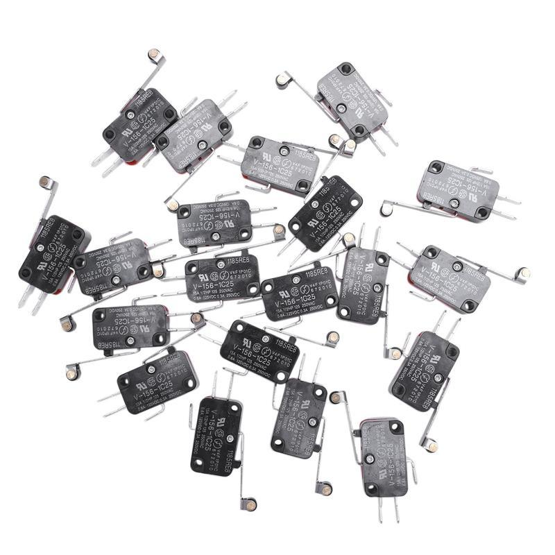 Bảng giá 20 Pcs Mini Micro Limit Switch Long Roller Lever Arm SPDT Snap Action Phong Vũ